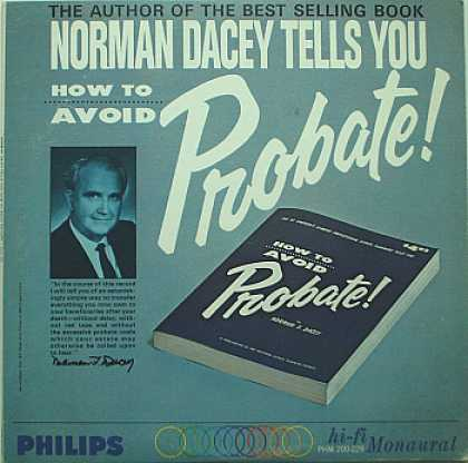 Weirdest Album Covers - Dacey, Norman (Tells You How To Avoid Probate)