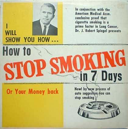 Weirdest Album Covers - Spiegel, Dr. J. Robert (How To Stop Smoking In 7 Days)