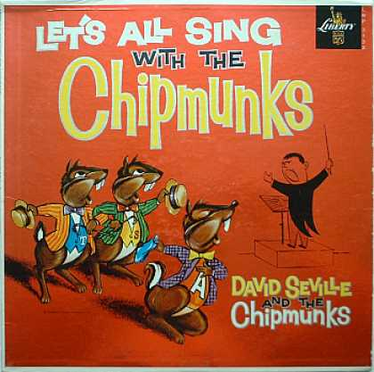 Weirdest Album Covers - Chipmunks (Let's All Sing)