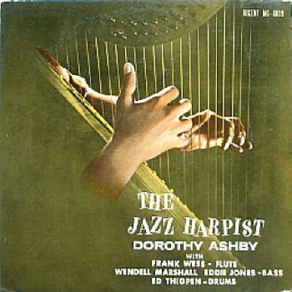 Weirdest Album Covers - Ashby, Dorothy (The Jazz Harpist)