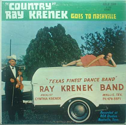 Weirdest Album Covers - Krenek, Country Ray (Goes To Nashville)