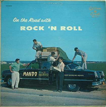 Weirdest Album Covers - Mando & The Chili Peppers (On The Road With Rock 'N Roll)