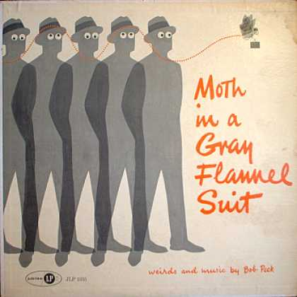 Weirdest Album Covers - Peck, Bob (Moth In A Gray Flannel Suit)