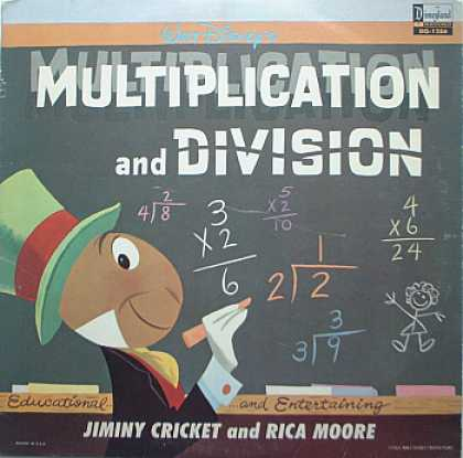 Weirdest Album Covers - Jiminy Cricket & Rica Moore (Multiplication & Division)