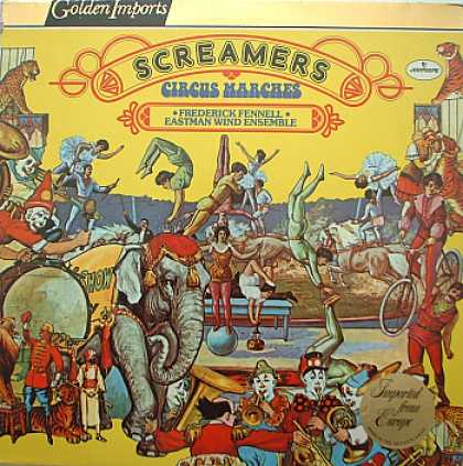Weirdest Album Covers - Fennell, Frederick & The Eastman Wind Ensemble (Screamers)