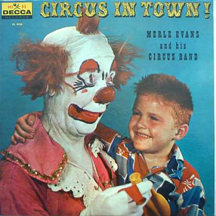 Weirdest Album Covers - Evans, Merle (Circus In Town!)
