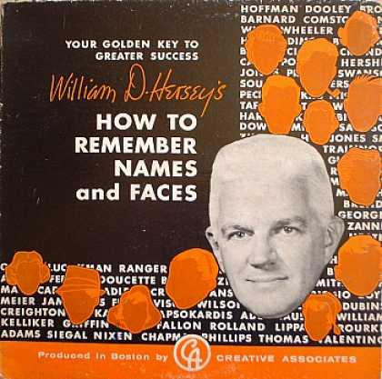 Weirdest Album Covers - Hersey, William D. (How To Remember Names & Faces)