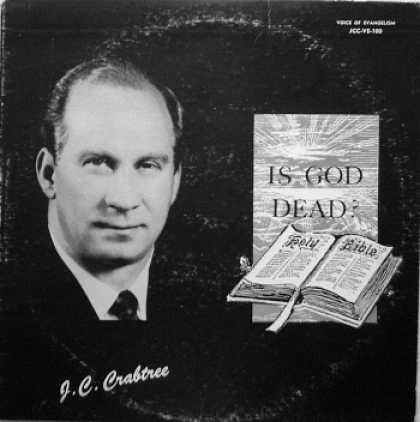 Weirdest Album Covers - Crabtree, J.C (Is God Dead?)