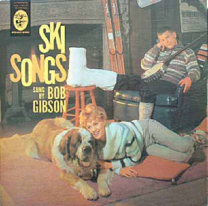 Weirdest Album Covers - Gibson, Bob (Ski Songs)