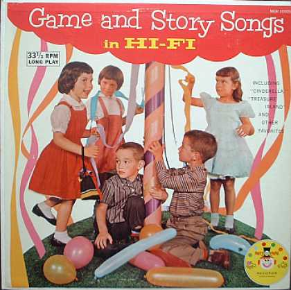 Weirdest Album Covers - Game And Story Songs In Hi-Fi