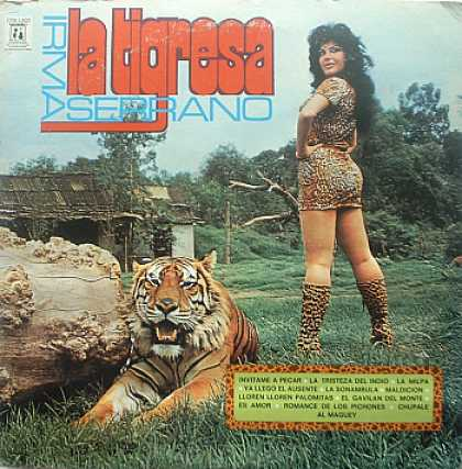 Weirdest Album Covers - Serrano, Irma (La Tigresa)