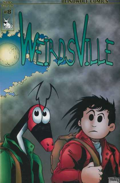 Weirdsville 8 - Wolf - Boy - Moon - Clouds - Sky