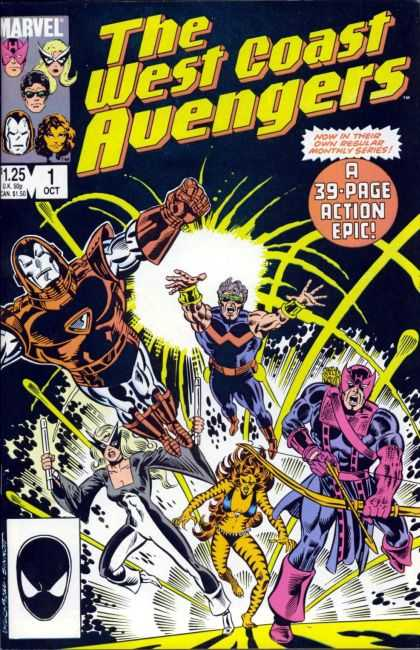 West Coast Avengers 1 - Marvel Comics - Spiderman - Mask - Action Epic - Tiger Stripes - Joe Sinnott