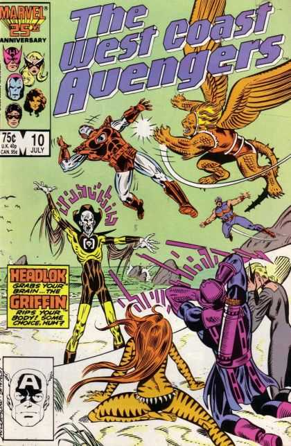 West Coast Avengers 10 - Headlock - Marvel - Superheros - Griffon - Flying - Joe Sinnott