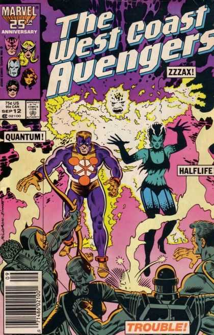 West Coast Avengers 12 - Marvel 25th Anniversary - Quantum - Zzzax - Halflife - Purple - Joe Sinnott