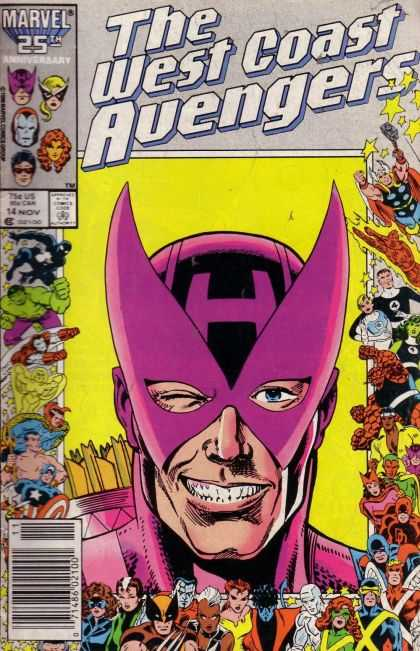 West Coast Avengers 14 - Marvel - 25th Anniversary - Thor - Hulk - Face Mask - Joe Sinnott