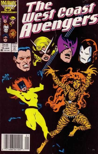 West Coast Avengers 16 - Marvel - West Coast - Avengers - 25th Anniversary - January 16th - Joe Sinnott