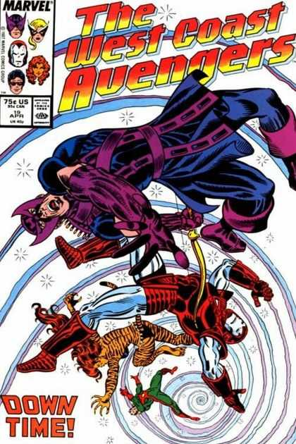 West Coast Avengers 19 - The Avengers - Spiral - Team Of Heros - Down Time - Marvel Comic - Joe Sinnott