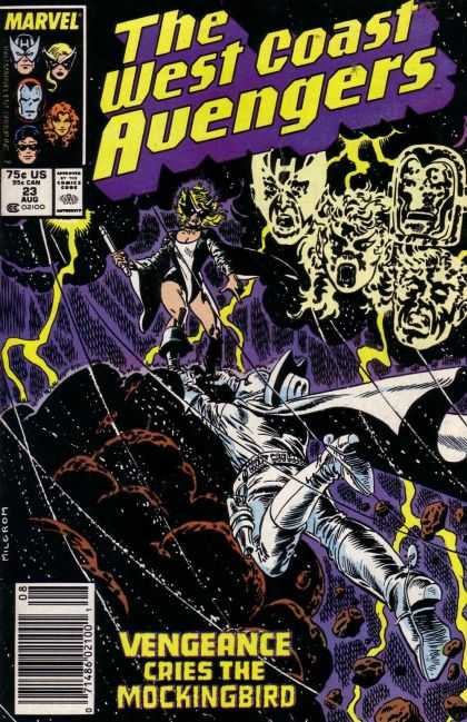 West Coast Avengers 23 - Marvel - 75c Us - 23 Aug - Vengeance Cries The Mockingbird - Joe Sinnott
