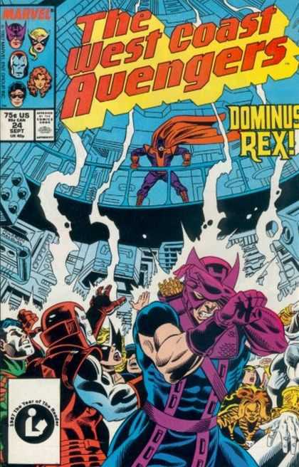 West Coast Avengers 24 - Dominus Rex - Marvel - 75 Cents Us - 24 Sept - Red Cape