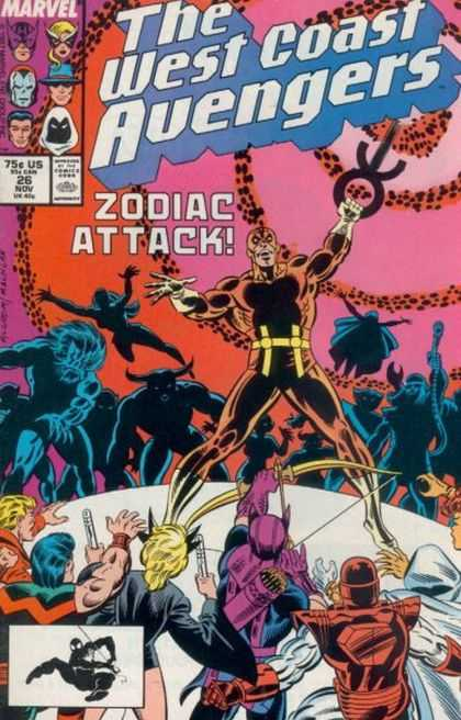 West Coast Avengers 26 - Bow And Arrow - Spiderman - Angry Mob - Sword - Bull Man