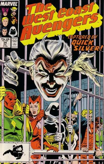 West Coast Avengers 34 - Hawkeye - Vision - Prisoners - Wanda - Behind Bars