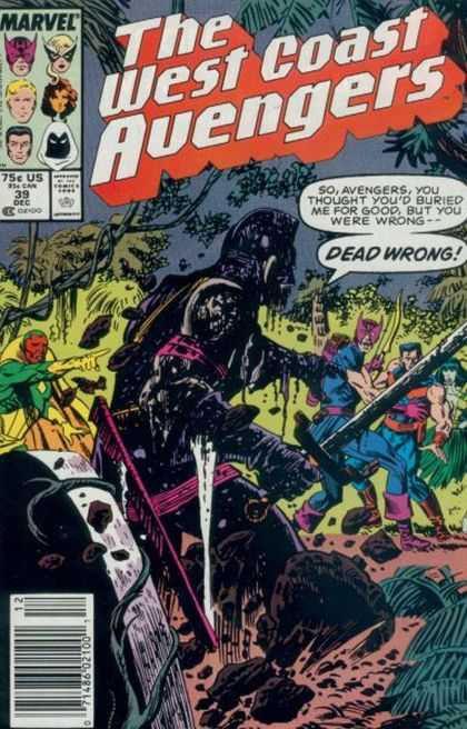 West Coast Avengers 39 - Marvel - Superhero - Approved By The Comics Code - Jungle - Dead Wrong