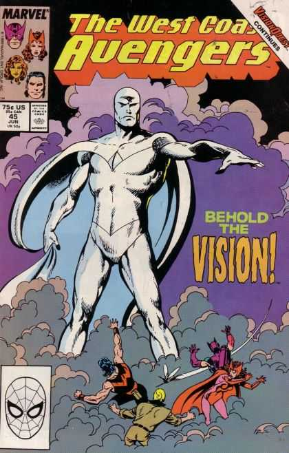 West Coast Avengers 45 - Marvel - Face Mask - Comics Code Authority - Visionquest - Behold The Vision - John Byrne