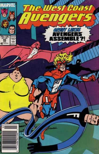 West Coast Avengers 46 - Marvel - 46 - Jul - Avengers Assemble - 75 - John Byrne