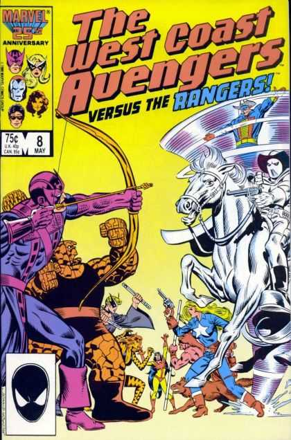 West Coast Avengers 8 - 25th Anniversary - May Edition - 8th Issue - The Thing - Hawk Eye - Joe Sinnott