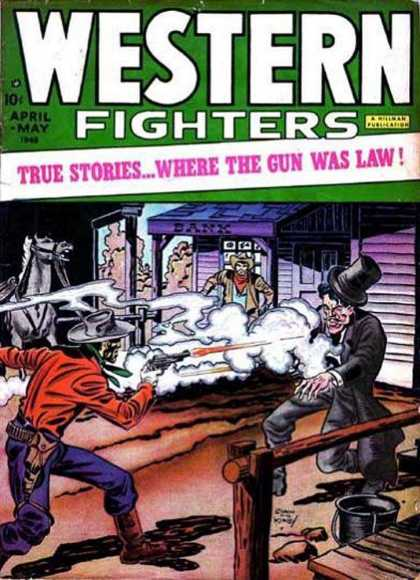 Western Fighters 1 - 10 Cents - April - May - Bank - Gun - Horse