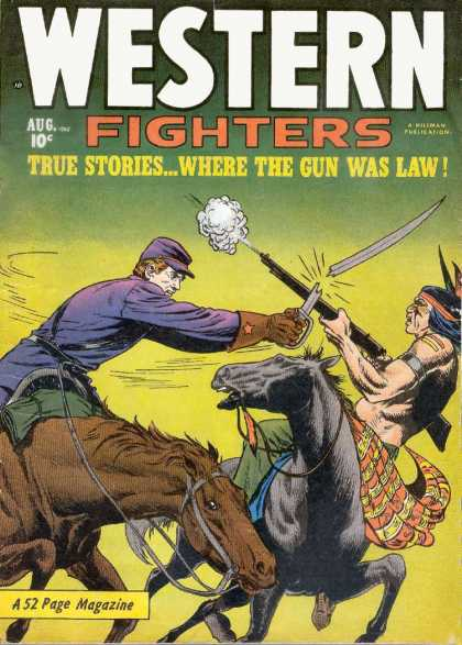 Western Fighters 21 - Horse - Indian - Soldier - Fighting - Gun