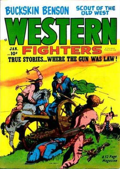 Western Fighters 26 - Buckskin Benson - Scout Of The Old West - Cannon - Soldiers - American Indians