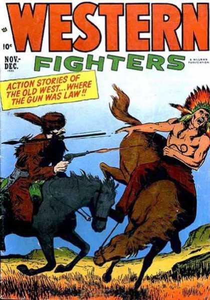 Western Fighters 41 - Action Stories Of The Old West - Wild West - Indian - Horses - Spear