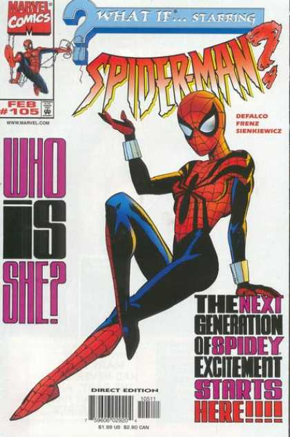What If? 105 - Marvel Comics - Spider-man - Spider-woman - Who Is She - What If