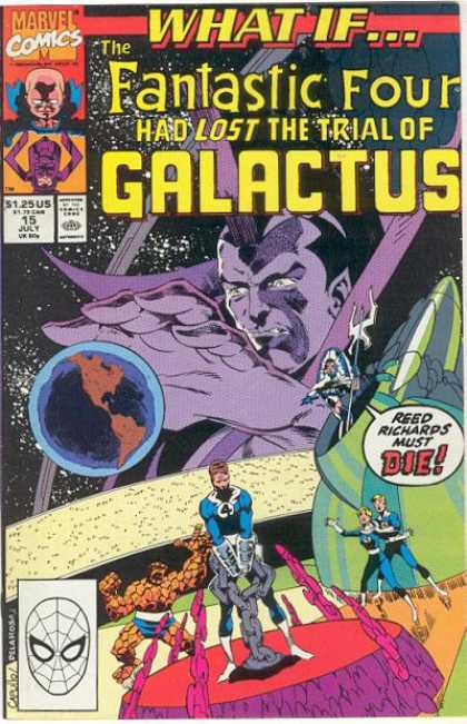What If? 15 - Marvel Comics - The Fantastic Four - Galactus - Reed Richards - Spiderman - Greg Capullo