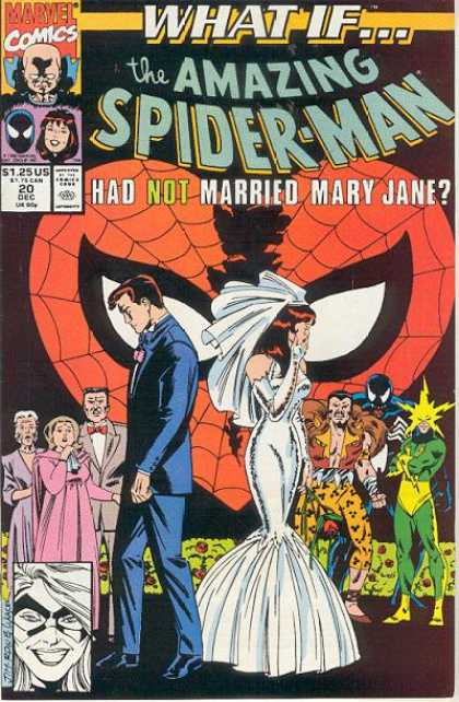 What If? 20 - Amazing Spiderman - Had Not Married Mary Jane - Mary Jane In A Wedding Dress - Issue Number 20 - December Issue