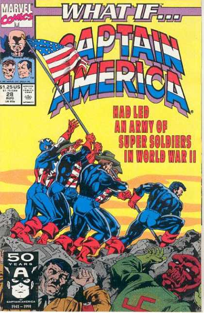 What If? 28 - Marvel Comics - Captain America - Army Of Super Soldiers - World War Ii - Hitler