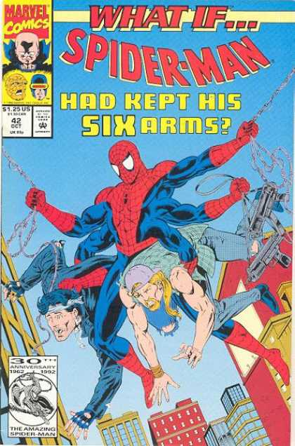 What If? 42 - Human Spider - Six Arms - Red And Blue Costume - Web Swinging - Watcher - Michael Golden