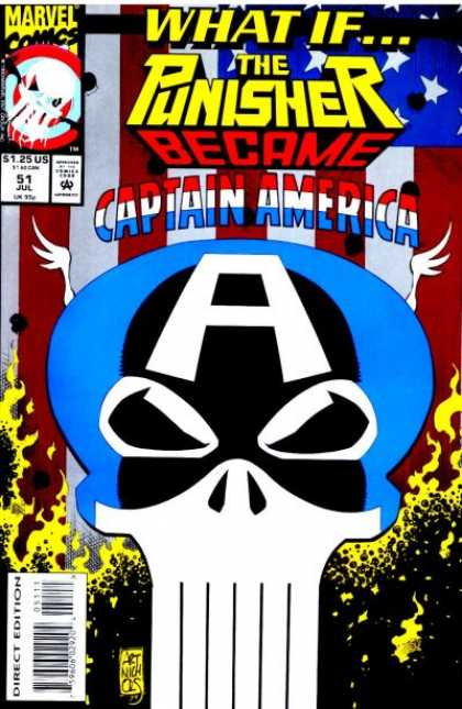 What If? 51 - Marvel - Punisher - Captain America - July - Skull