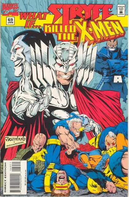 What If? 69 - Stryfe Killed The X-men - Justiniano Richardson - Red Cape - White Helmet - 69 Jan