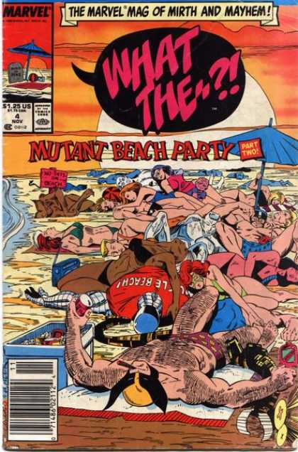 What The ?! 4 - Mutant Beach Party - Bikinis - Babes - Sunbathers - Marvel