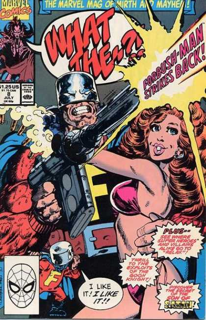 What The ?! 8 - Marvel Comics - Forbush-man - Approved By The Comics Code - Woman - Superhero