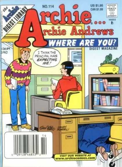Where Are You 114 - Archie Andrews - Us 195 - Archie Digest Library - Digest Magazine - Wwwarchiecomicscom
