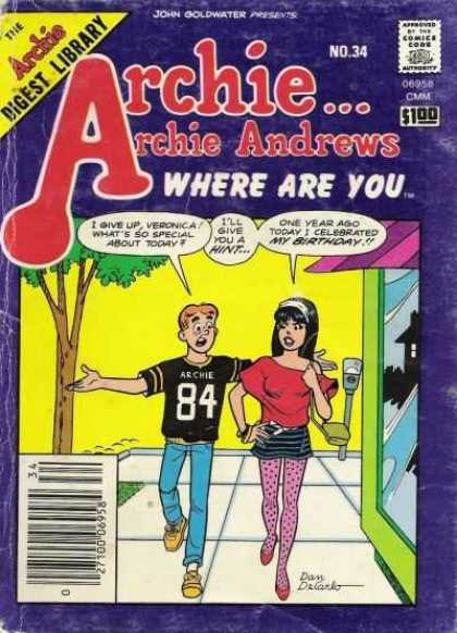 Where Are You 34 - Comics Code - Archie Series - Girl - Boy - Archie Andrews