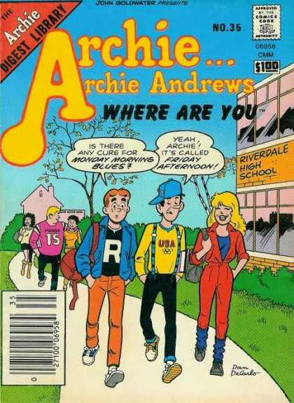 Where Are You 35 - Archie Andrews - Dan Decarlo - Blue Hat - Red Jumper - No 35