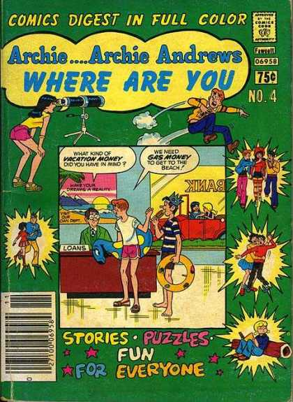 Where Are You 4 - Comics Digest In Full Color - Approved By The Comics Code - Woman - Man - Stories