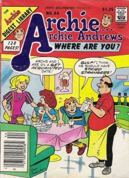 Where Are You 44 - Archie Andrews - Betty - Date - Drink - Apron