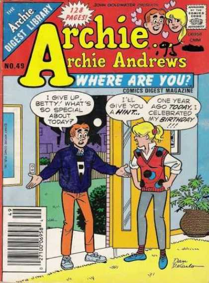Where Are You 49 - Johyn Goldwater - Archie - Betty - Potted Plant - Front Door