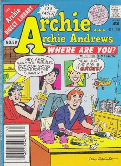 Where Are You 58 - Jughead - Veronica - Archie - Digest Library - Speech Bubble
